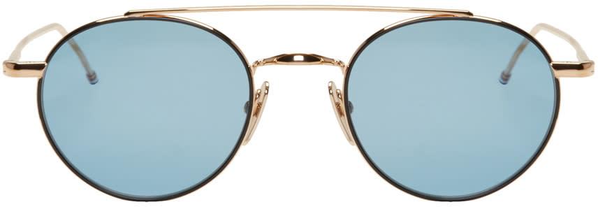 Thom Browne Gold Tb 101 Sunglasses