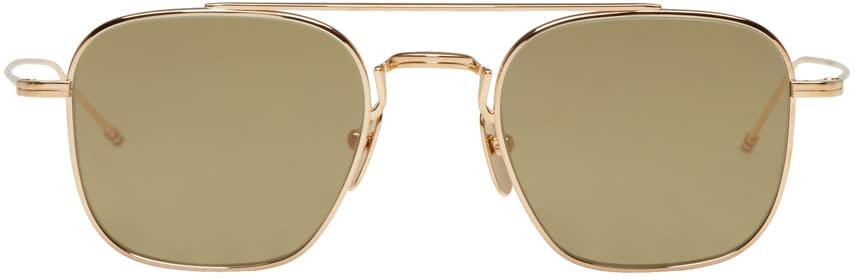 Thom Browne Gold Tb 907 Sunglasses