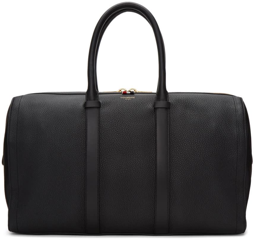 Thom Browne Black Unstructured Holdall Bag