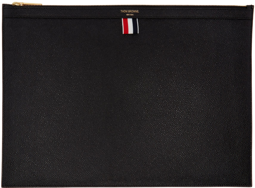 Thom Browne Black Large Laptop Holder
