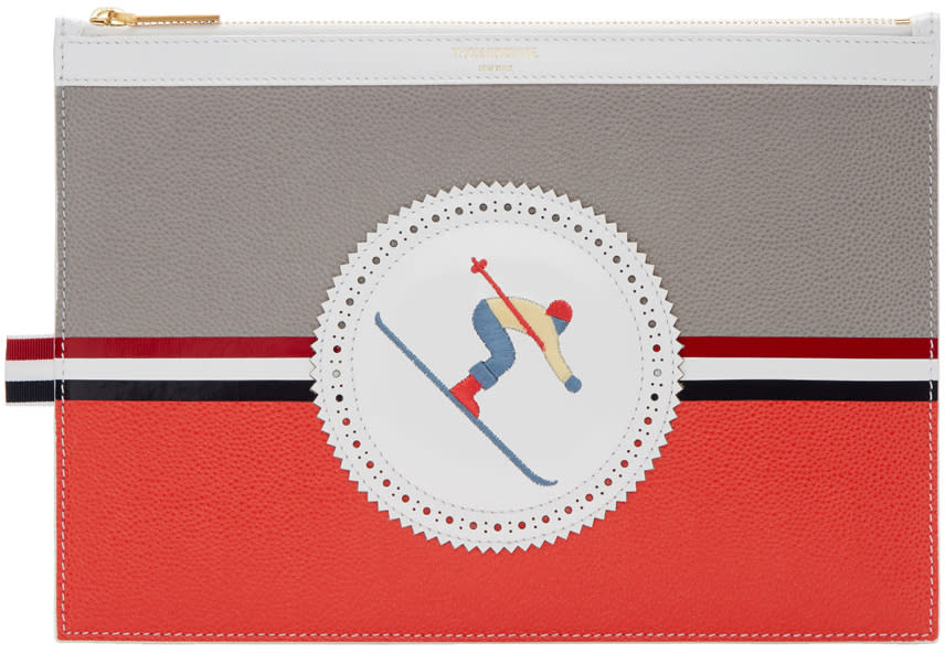 Thom Browne Tricolor Skier Icon Tablet Holder