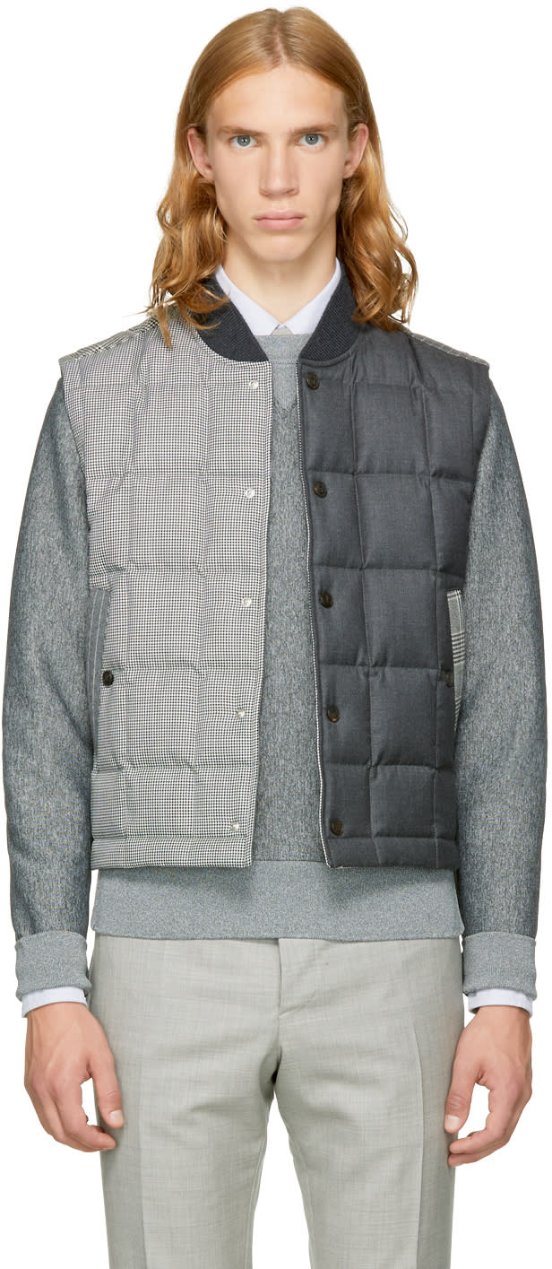Image of Thom Browne Black and White Down Funmix Vest