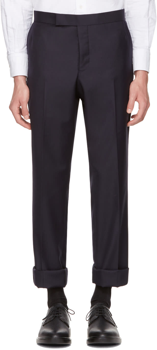 Thom Browne Navy Classic Unconstructed Backstrap Trousers