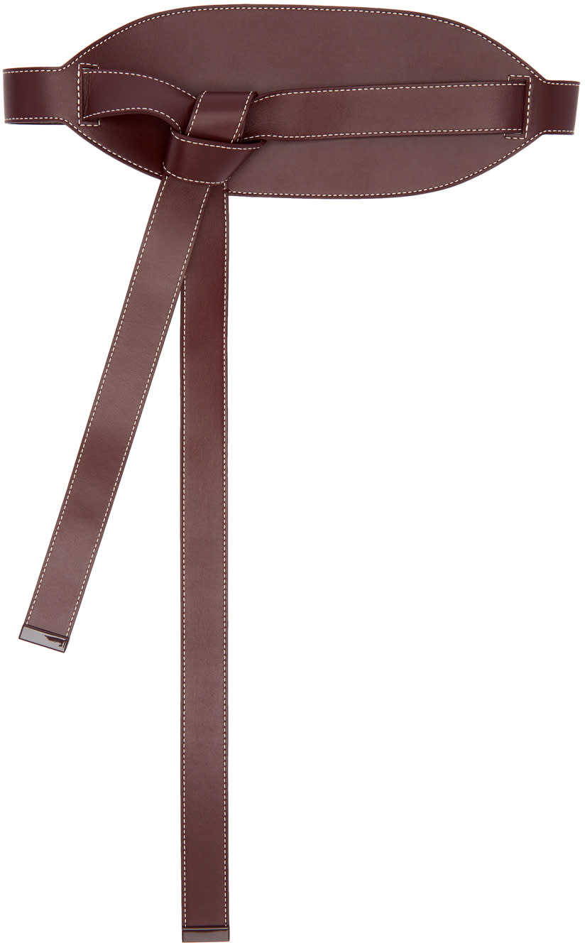 Image of Roksanda Brown Leather Wrap Belt