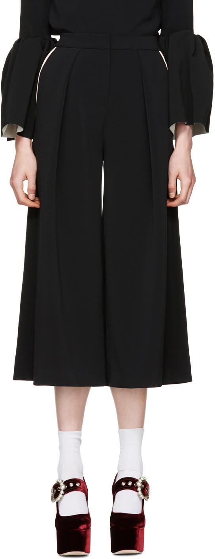 Image of Roksanda Black Deven Culottes