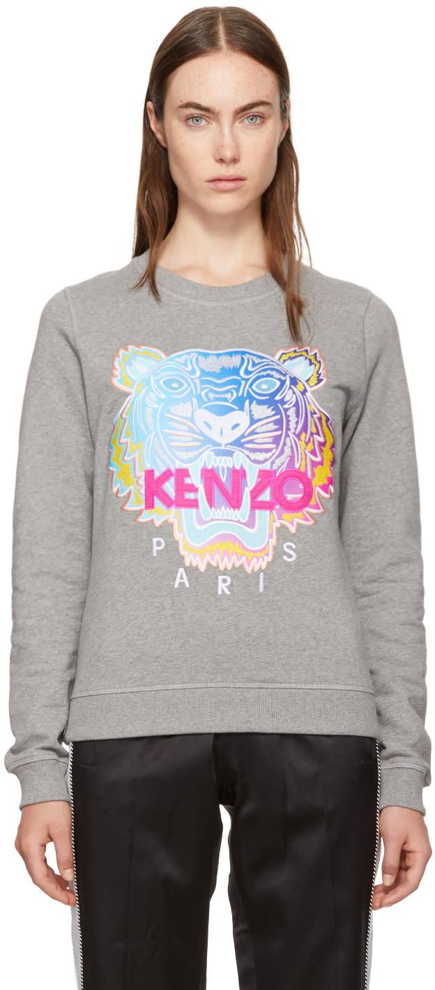 5a7e933f Kenzo Grey Limited Rainbow Geo Tiger Sweatshirt