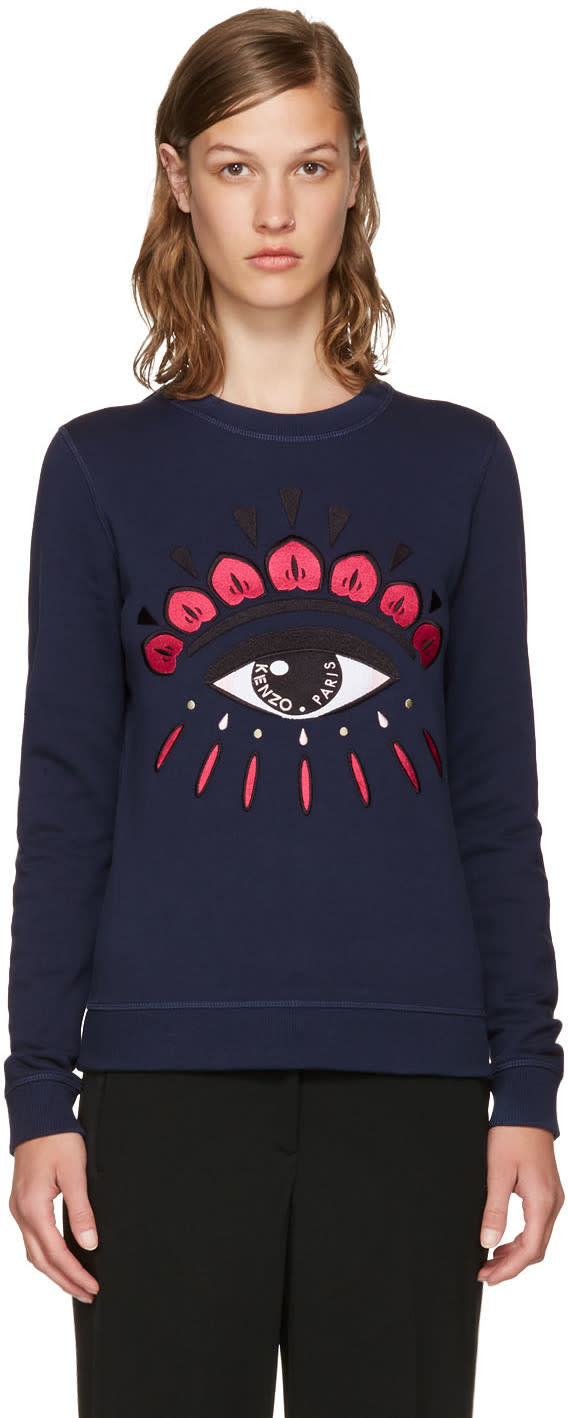 Kenzo Navy Limited Edition Eye Sweatshirt