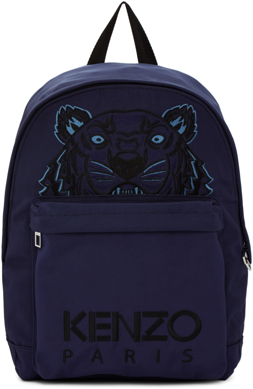 5e946401 Kenzo Navy Large Tiger Canvas Backpack
