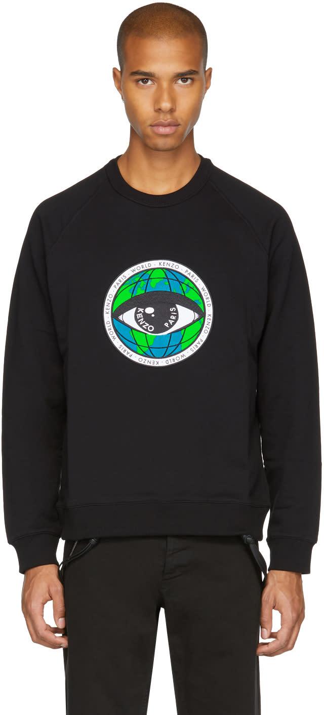 b3bbfd9665 Kenzo Black World Eye Sweatshirt