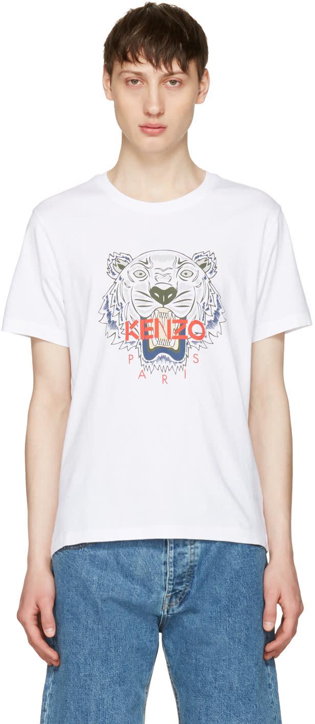 Kenzo ホワイト タイガー T シャツ