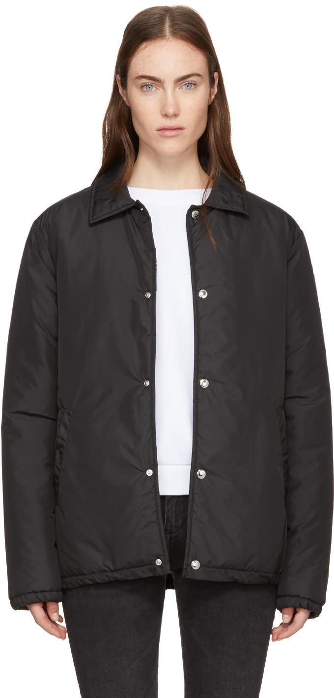 Image of Maison Kitsuné Black Padded Bertil Windbreaker Jacket