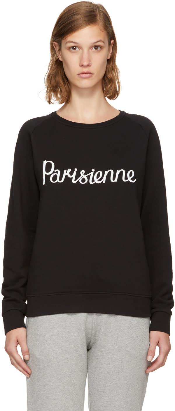 Image of Maison Kitsuné Black parisienne Sweatshirt