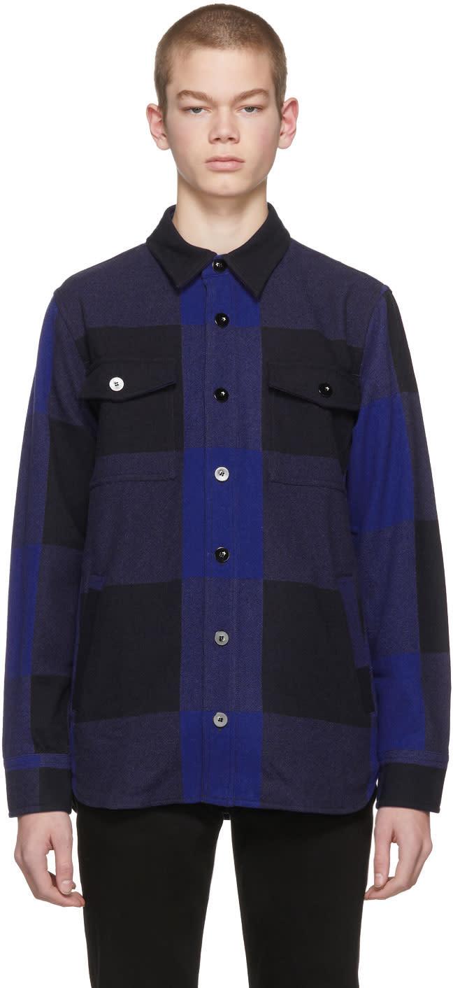 Image of Maison Kitsuné Blue Check John Jacket