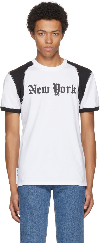 Image of Maison Kitsuné Black and White new York T-shirt