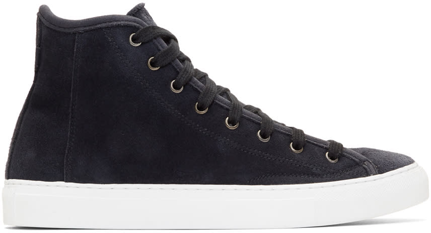 Diemme Navy Suede Veneto High-top Sneakers