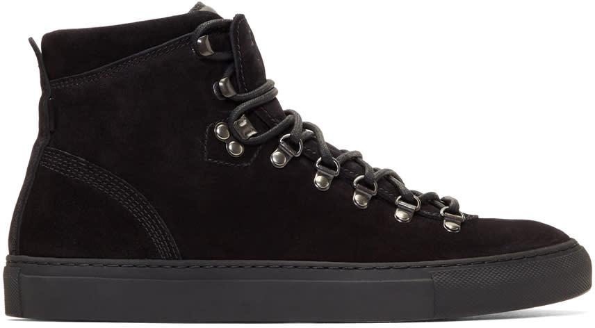 Diemme Black Suede Marostica Mid Sneakers