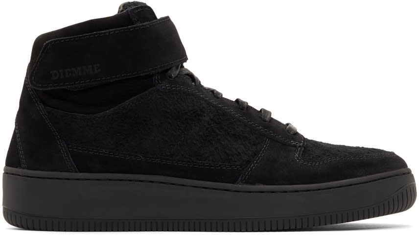 Diemme Black Suede Brenta Alto High-top Sneakers