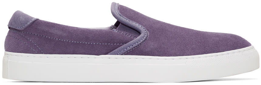Diemme Purple Suede Garda Slip-on Sneakers