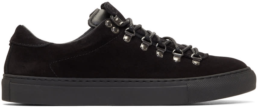 Diemme Black Suede Marostica Low Sneakers