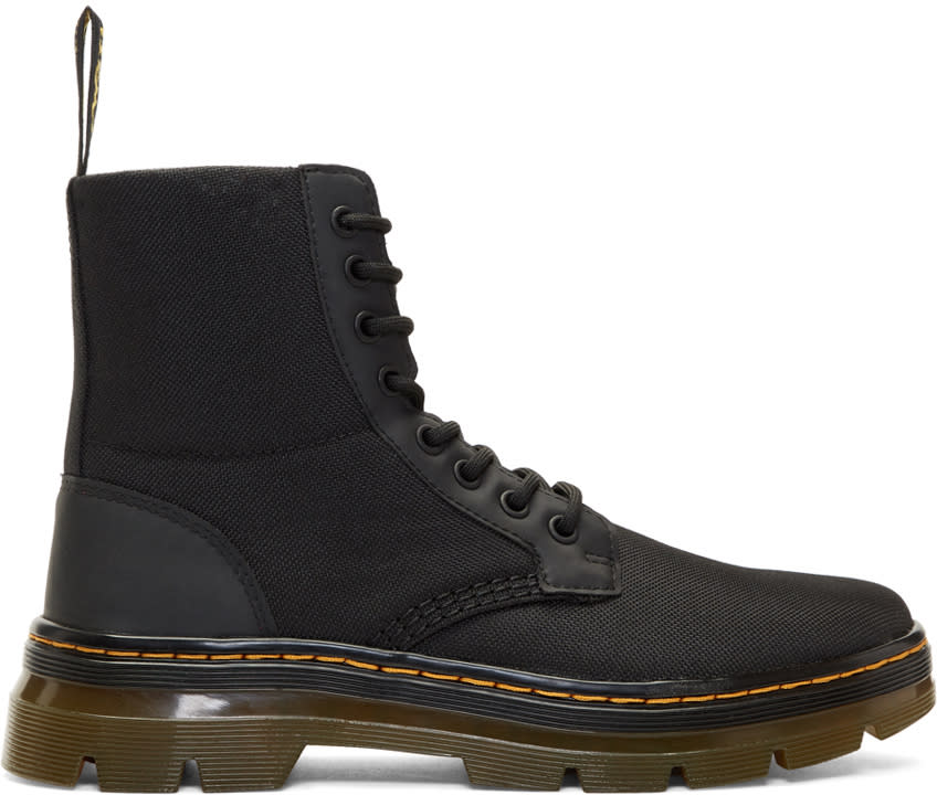 Dr. Martens Black Nylon Tract Combs Boots