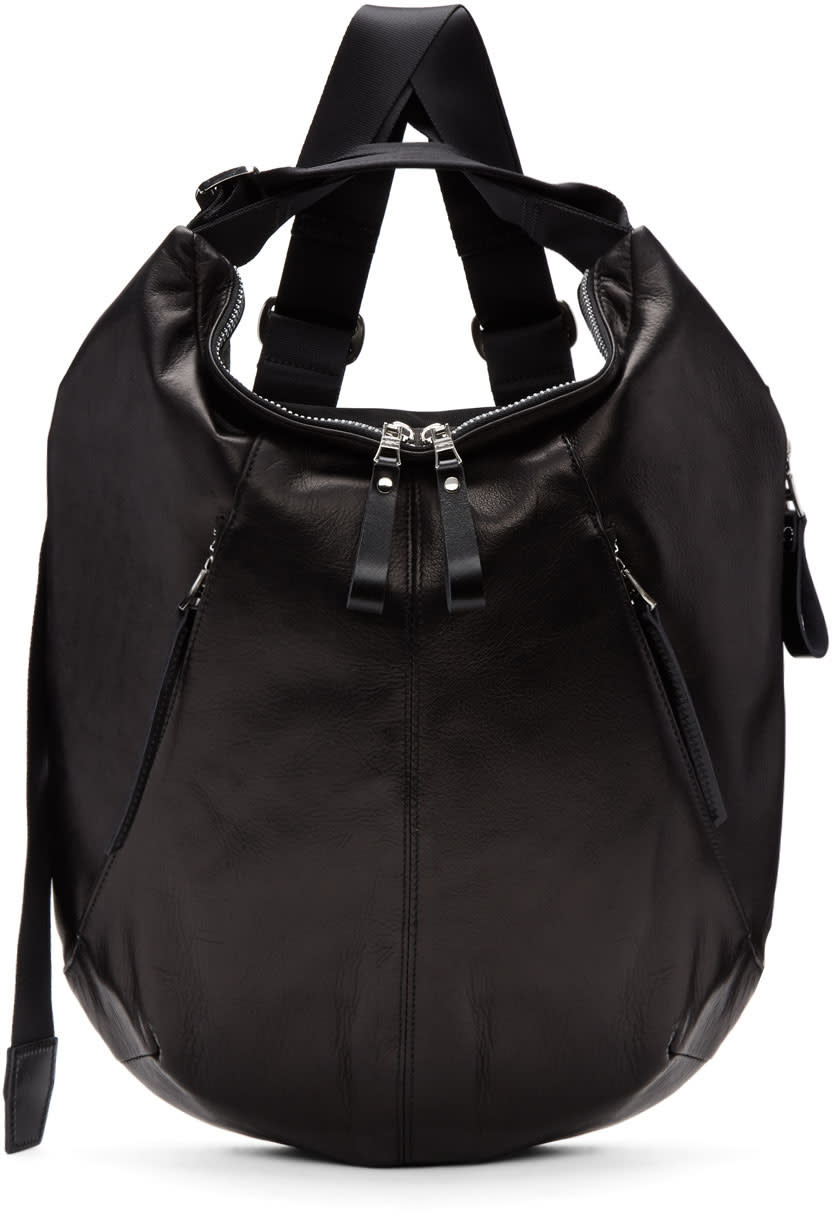 Master-piece Co Black Leather Wispy Backpack