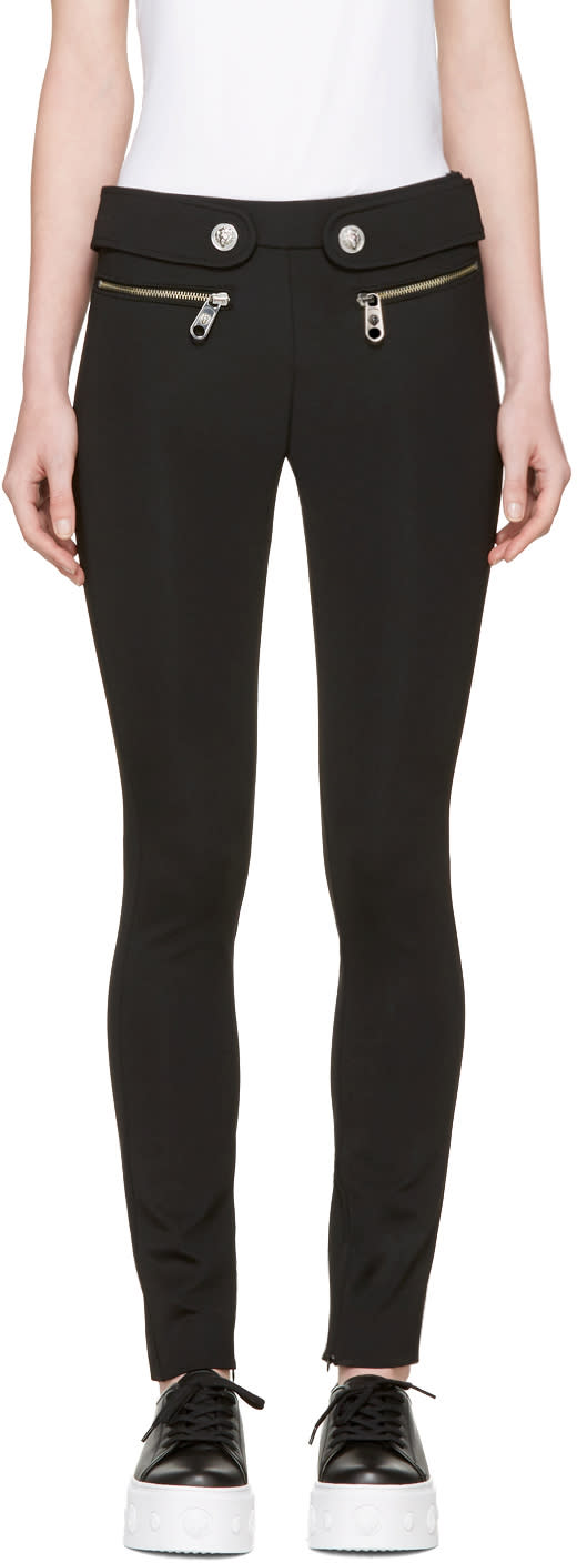 Versus Black Waist Tabs Leggings