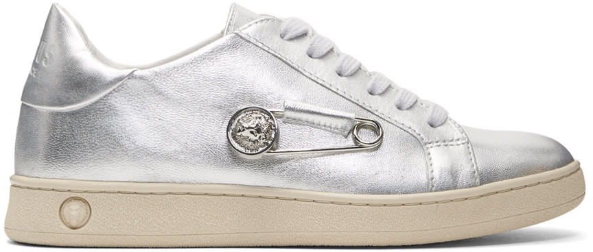 Versus Silver Safety Pin Sneakers