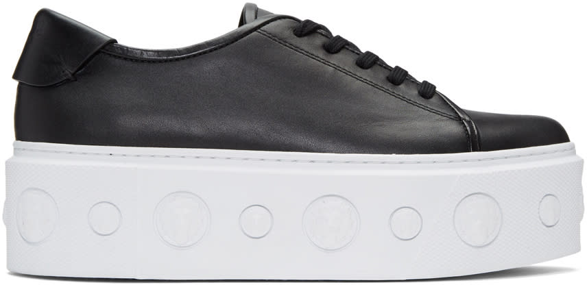 Versus Black Lion Platform Sneakers
