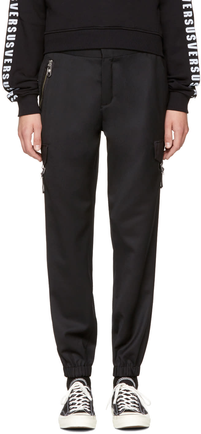 Image of Versus Black Cargo Pants