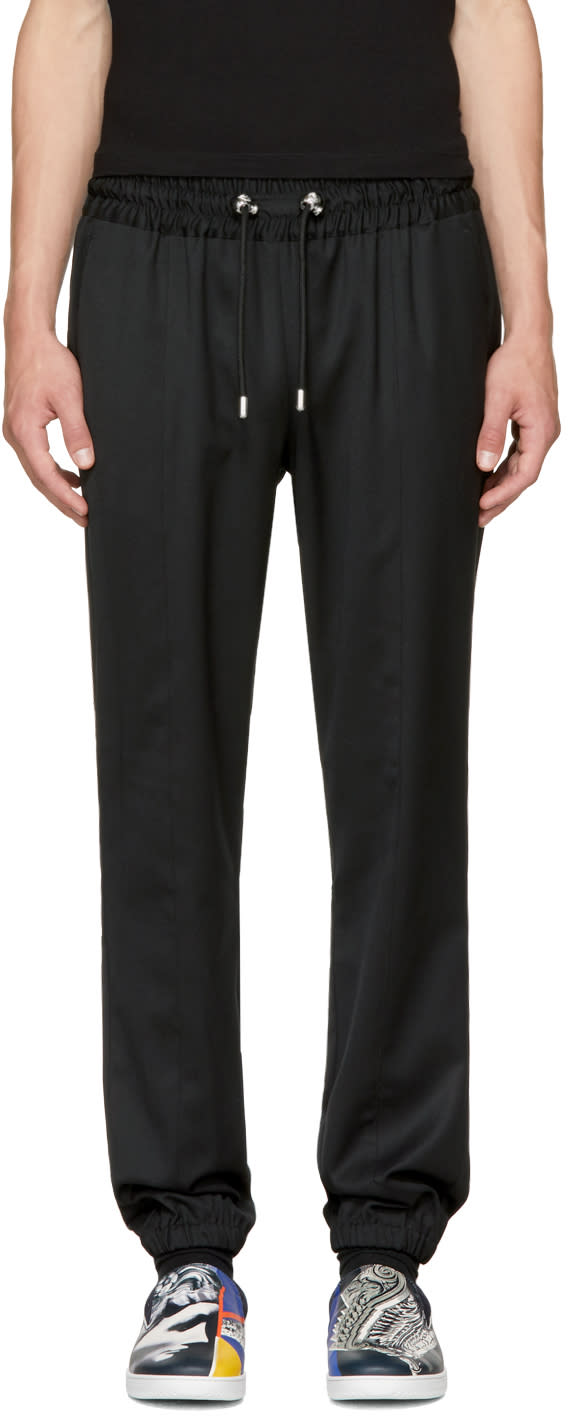 Image of Versus Black Cuffed Trousers