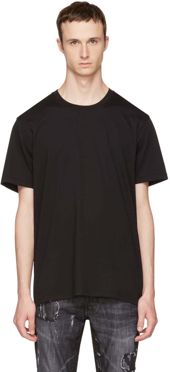 Versus Black Back Logo Strap T-shirt