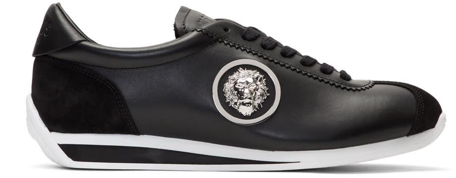 Versus Black Lion Head Sneakers