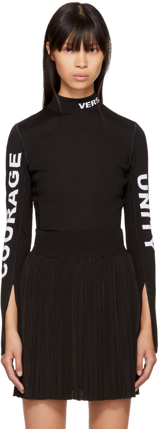 Versace Black courage, Unity, and Versace Turtleneck