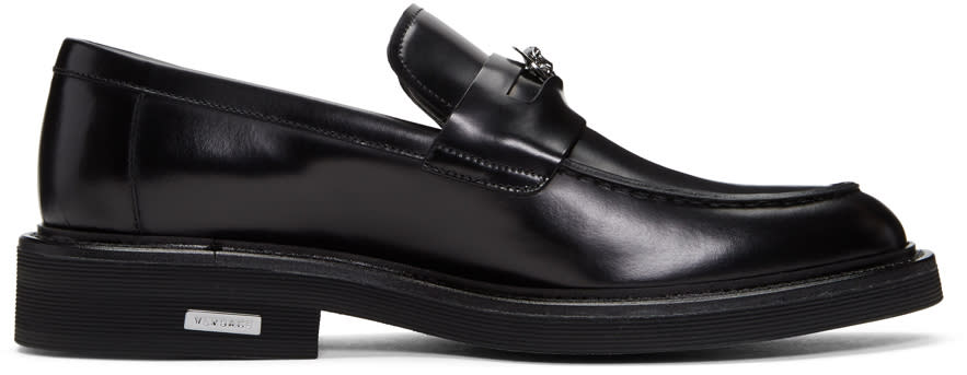 Versace Black Medusa Penny Loafers