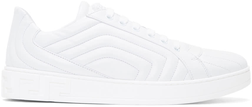 Versace White Quilted Sneakers