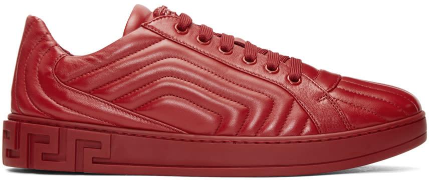 Versace Baskets Matelassées Rouges