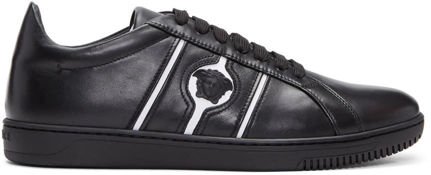 Versace Baskets Noires Et Blanches Medusa