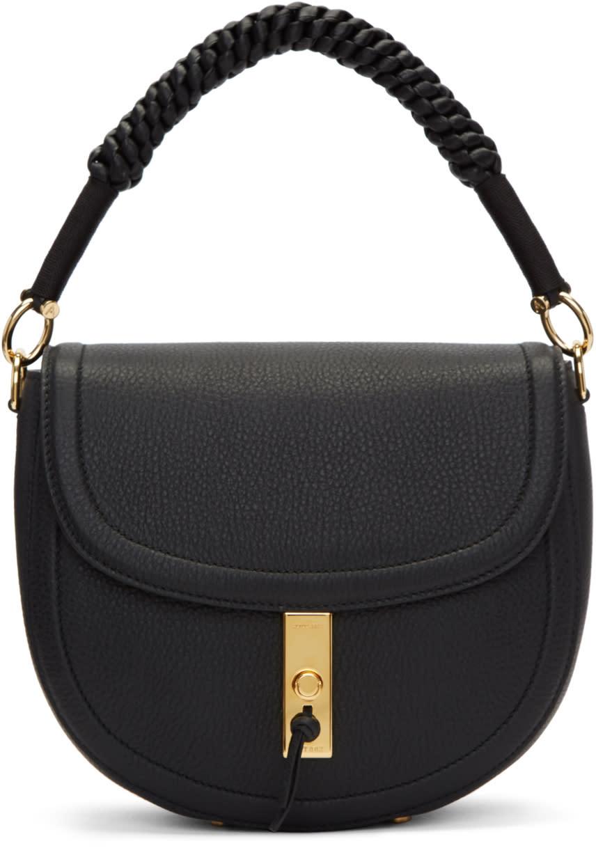 Image of Altuzarra Black Suede Medium Ghianda Bag