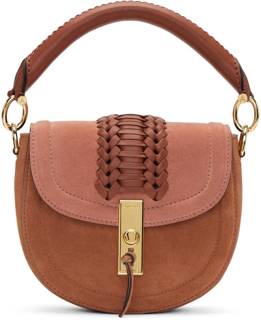 Image of Altuzarra Pink Suede Mini Ghianda Bag