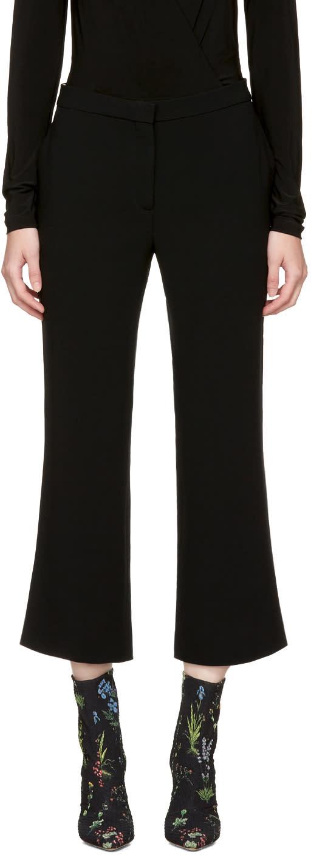 Image of Altuzarra Black Nettle Kick-flare Trousers