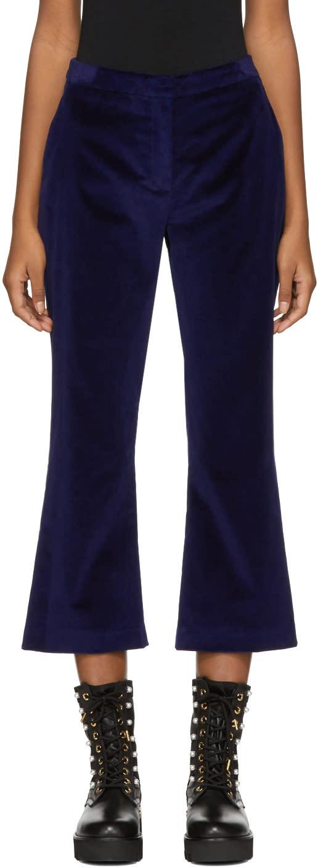 Altuzarra Pantalon En Velours Bleu Marine Nettle