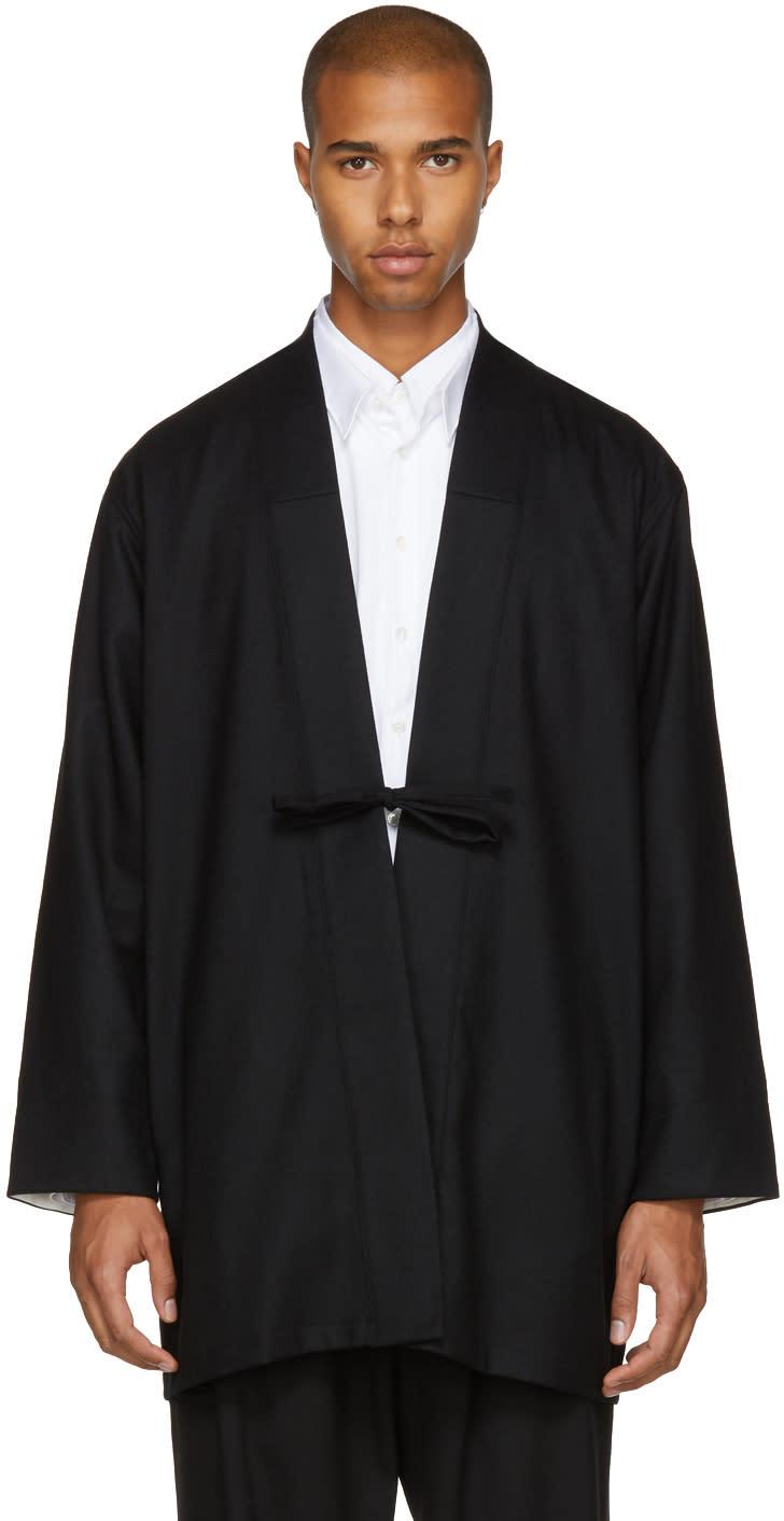 Image of Sasquatchfabrix Black Chinese Phoenix Haori Coat