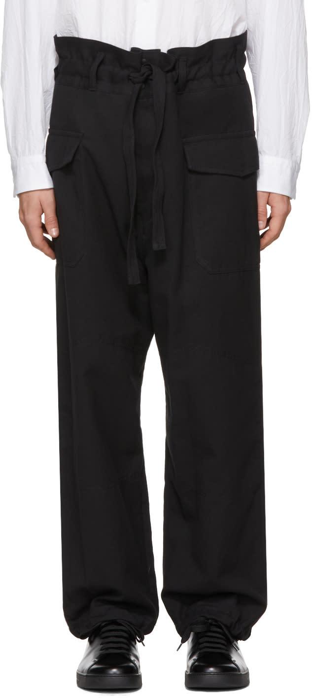 Image of Sasquatchfabrix Black High-rise Cargo Pants