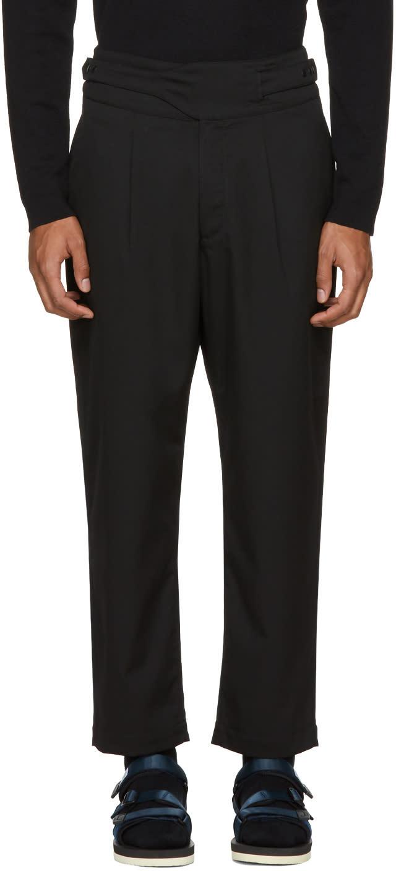 Image of Sasquatchfabrix Black Hi-west Trousers