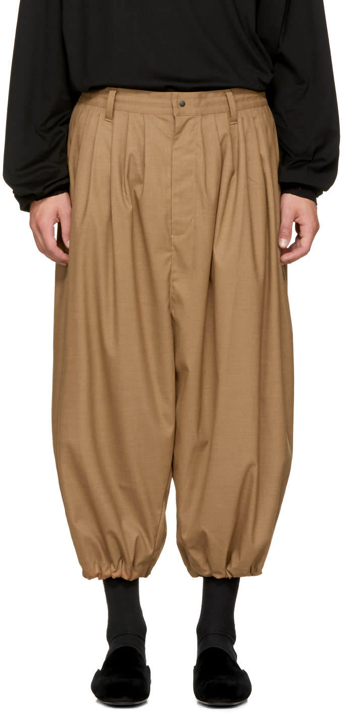 Image of Sasquatchfabrix Beige Balloon Trousers