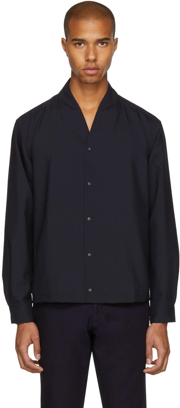 Image of Sasquatchfabrix Black and Navy Wa-neck Shirt