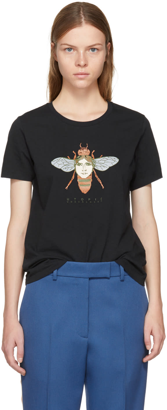 Image of Undercover Black bug Face T-shirt