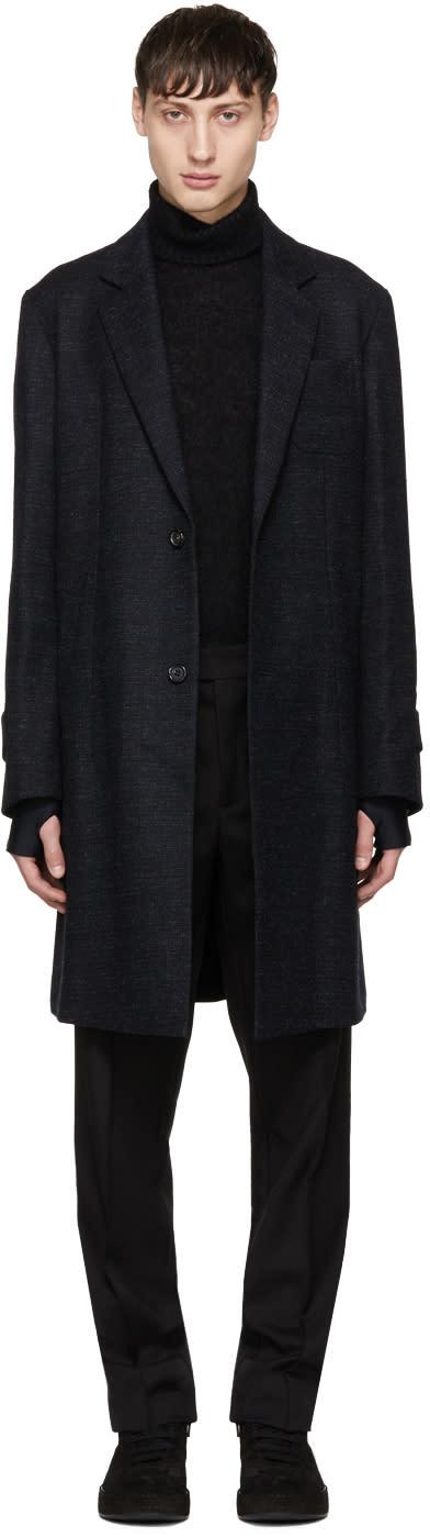 Image of Undercover Black Wool Pocket Coat