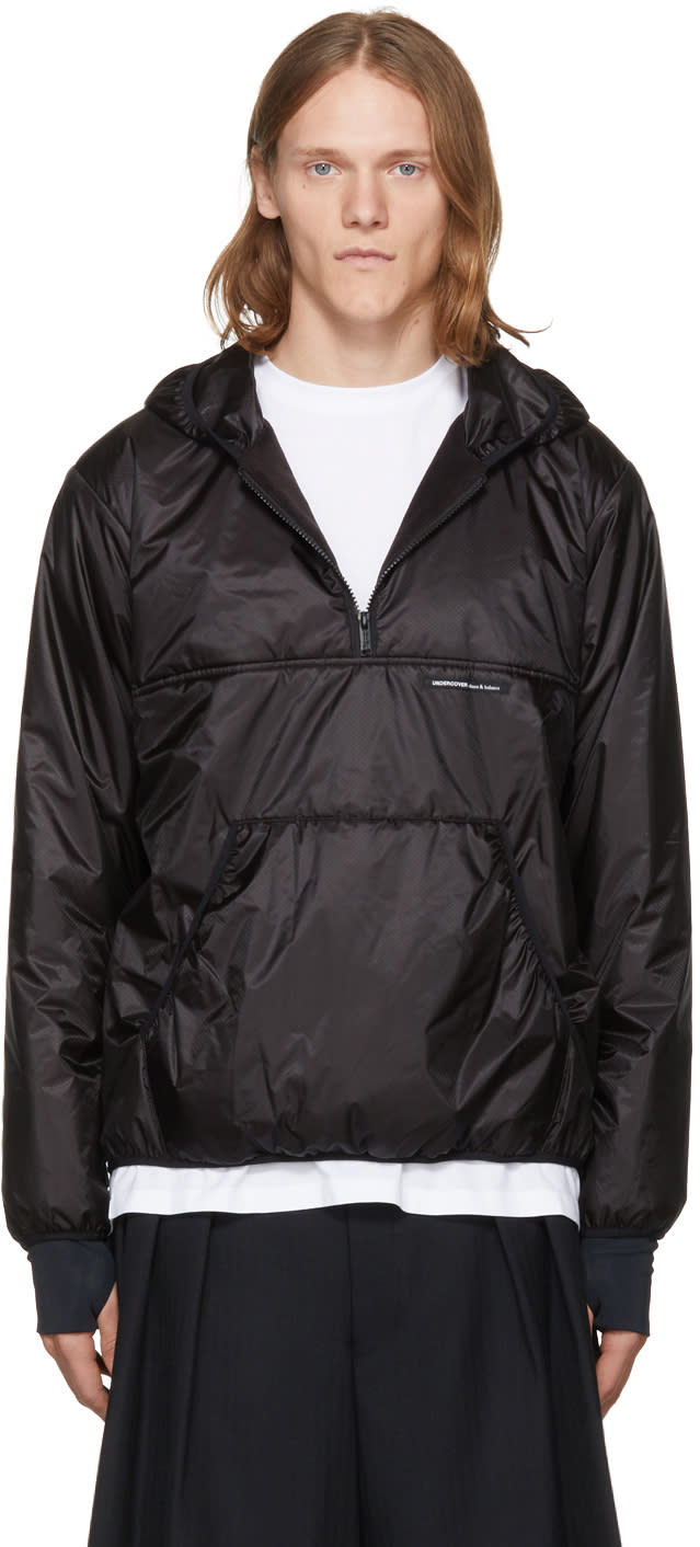 Image of Undercover Black Hooded Windbreaker Jacket