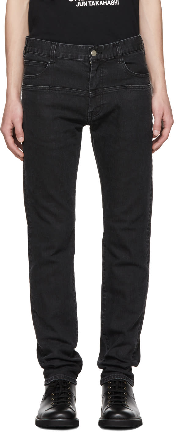 Image of Undercover Black Double Pocket Jeans